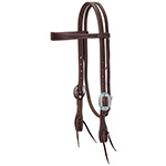 Working Tack Feather Designer Hardware Slim Browband Headstall