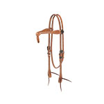 Weaver Leather Rambler Futurity Knot Browband Headstall, Russet