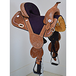 "New! 14.5"" Tammy Fischer Treeless Barrel Saddle by Circle Y Saddlery"