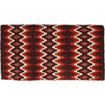 "Mustang Manufacturing Brown and Tan Mohair Woven Navajo Blanket 36"" X 34"""