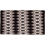 "Mustang Manufacturing Black and White Mohair Woven Navajo Blanket 36"" X 34"""