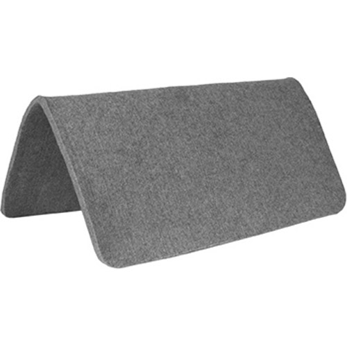 Mustang Manufacturing Grey Wool Saddle Pad X Coolhorse - Table pad manufacturers