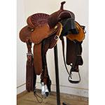 """New! 14"""" Lisa Lockhart Fearless Barrel Saddle by Martin Saddle"""
