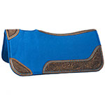 "30"" x 30"" Buckstitch Barrel Saddle Pad in Turquoise"
