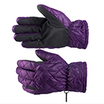 Horze Quilted Winter Gloves in Sultry Violet