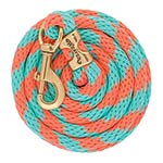 Weaver Leather Poly Lead Rope with Solid Brass Snap- Coral/Mint
