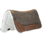 "Weaver Leather 100% Wool Felt Saddle Pad with Gel Insert and Merino Wool Fleece Liner 32"" X 32"""