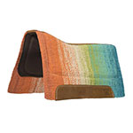 "Weaver Leather Contoured Barrel EVA Sport Foam Saddle Pad with Felt Bottom, Green/Orange 32"" X 32"""