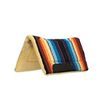 Weaver Leather Fleece Lined Acrylic Straight Saddle Pad, Serape