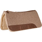 """Mustang Manufacturing Tan 1"""" Wool Contoured With Fleece Bottom Pad 32"""" X 31"""""""