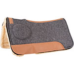 "Mustang Manufacturing 1"" Correct Fit Fleece Barrel Saddle Pad 31"" X 30"""