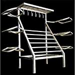 Six Tier Saddle Rack with Blanket Bars and Tack Hooks