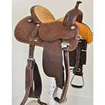 "SOLD New! 13.5"" Crown C Barrel Saddle by Martin Saddlery"