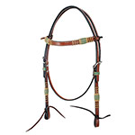 Rafter T Tack Browband Headstall w/ Rawhide Knotting