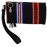 Rafter T Tack Black and Red Wool Wristlet