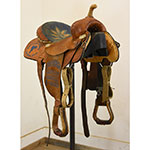 "Used 12"" Double J Arrow Barrel Racing Saddle"