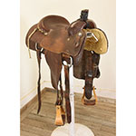 "Used 13.5"" Martin Saddlery Calf Roping Saddle"