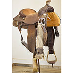 "Used 14.5"" Brad McClellan Maker Calf Roping Saddle"