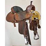 "Used 14.5"" Crown C Barrel Racing Saddle by Martin Saddlery"