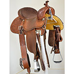 "Used 14"" Crown C Barrel Racing Saddle by Martin Saddlery"
