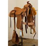 """Used 14"""" Seth Ward Ranch Roping Saddle"""
