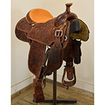 "Used 15.5"" Cactus Team Roping Saddle"