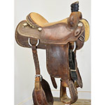 "SOLD Used 15.5"" Martin Saddlery Team Roping Saddle"
