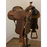"Used 15.5"" Vern Martin Maker Roping Saddle"