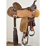 "Used 15"" J Stead Saddles Barrel Racing Saddle"