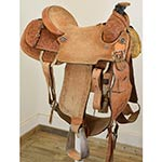 """Used 15"""" NSA Team Roping Saddle Made In Brazil"""