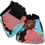 Classic Equine Designer Line No Turn Dyno Bell Boots- Coral Tropic