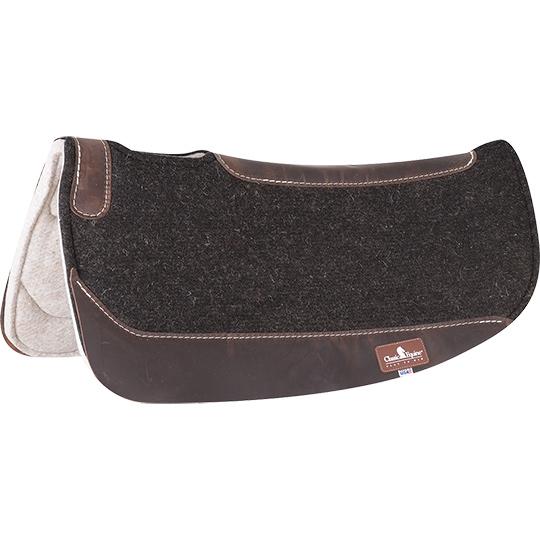 C-P108 Western Horse Saddle Pad High Quality 100/% Wool Felt Black