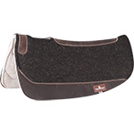 "Classic Equine ESP Barrel Felt Saddle Pad Black 28"" x 28"""