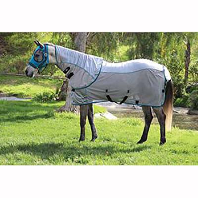 Professional's Choice Comfort Fit Fly Sheet- Charcoal/Pacific Blue