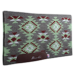 Contoured Navajo Saddle Blanket in Charcoal and Olive