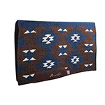 Contoured Navajo Saddle Blanket in Chocolate and Navy