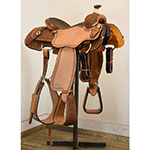 "SOLD! New! 14.5"" Coolhorse Calf Roping Saddle"