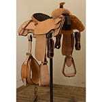 "New! 14"" Coolhorse Roughout Calf Roping Saddle"