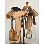 "New! 15.5"" Coolhorse Team Roping Saddle"