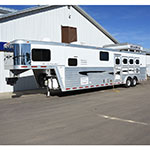 2003 Bloomer 4 Horse Trailer with 14