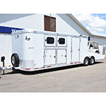 2004 CM 2 Horse Trailer with Car Hauler Bumper Pull with 2001 Jeep Wrangler Sport 4WD Soft Top