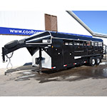 "2014 Hughes 6.6"" x 22.11"" Black Stock Combo Horse Trailer"