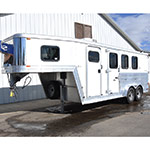 2007 Kiefer 3 Horse Trailer with Dressing Room, Rear Tack, A/C