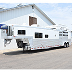 2011 Platinum 3 or 4 Horse Stock Combo Trailer Mid Tack 13