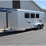 2015 Shadow 3 Horse Bumper Pull Horse Trailer