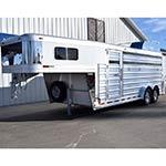 2017 Platinum Coach Demo Model! Platinum 4 Horse Stock Combo Horse Trailer