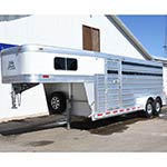 2018 Platinum 4 Horse Stock Combo Horse Trailer with Swing Out Saddle Rack