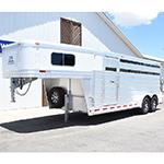2019 Platinum 4 Horse Stock Combo Horse Trailer