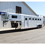 2019 Platinum Coach 6 Horse Trailer- Demo Model- Polished Slats, Stainless, Trainer