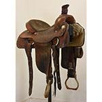 """Used 14.5"""" Ruff Saddle Shop Team Roping Saddle"""
